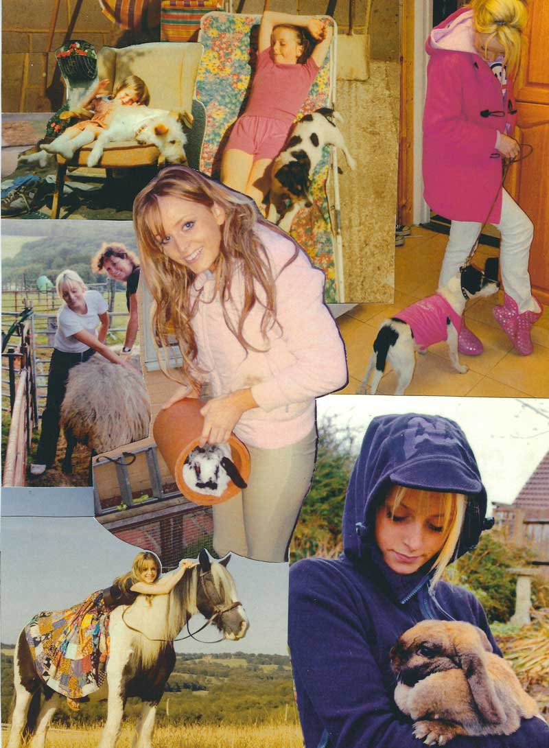 Collage 2 Joss growing up with animals